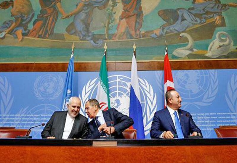 ایران به خواست دولت و ملت سوریه در این کشور می ماند ، نشست ایران، روسیه و ترکیه در سوئیس