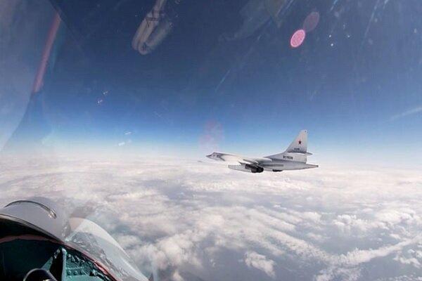 پرواز 2 بمب افکن راهبردی روسیه بر فراز آب های بین المللی بالتیک