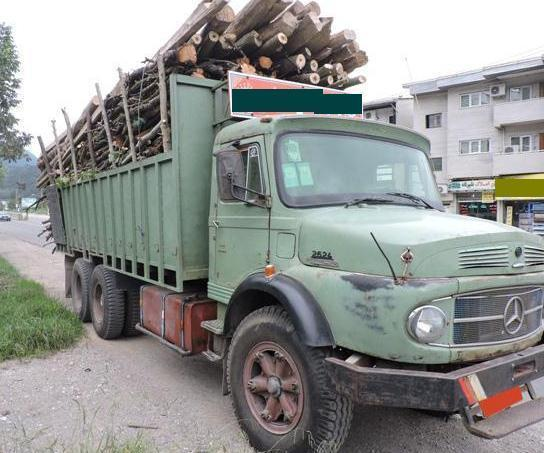 کشف 19 تن چوب جنگلی قاچاق در گیلان