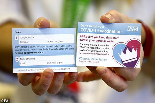 صدور کارت شناسایی برای افرادی که واکسن کرونا می زنند (عکس)