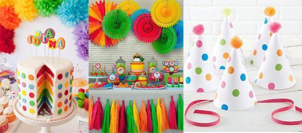 طراحی تم تولد رنگین کمان برای جشن تولدی شاد و استثنایی