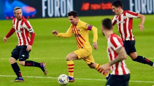بیلبائو 2 - بارسلونا 3؛ بلوگرانا به لطف درخشش مسی تا رده سوم لالیگا بالا آمد